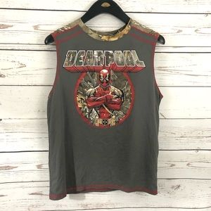 Deadpool sleeveless camp tee